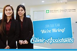 Hiring Clinic Assistant | East Coast Podiatry