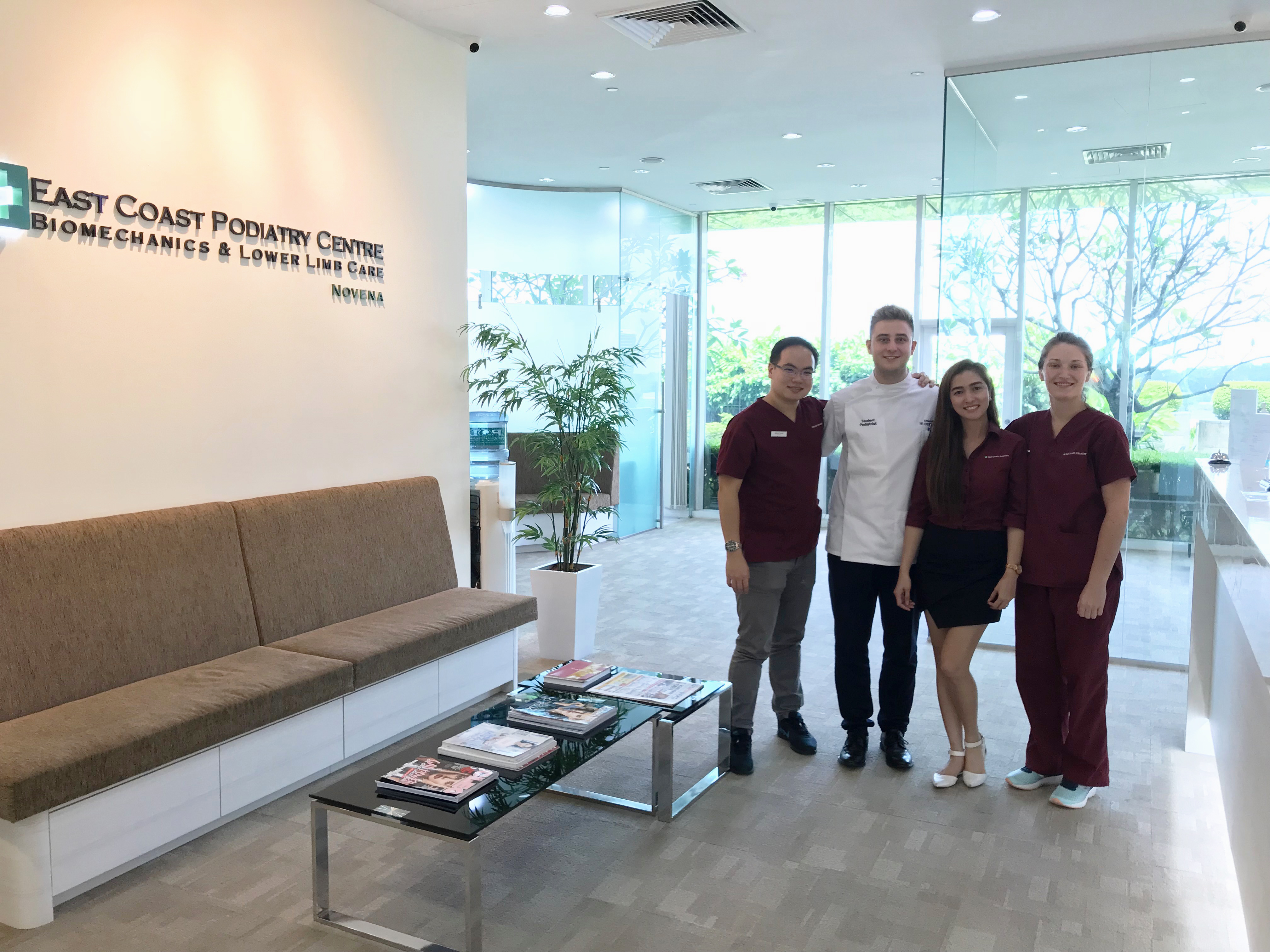 Lewis with Podiatrist Team at Novena | East Coast Podiatry