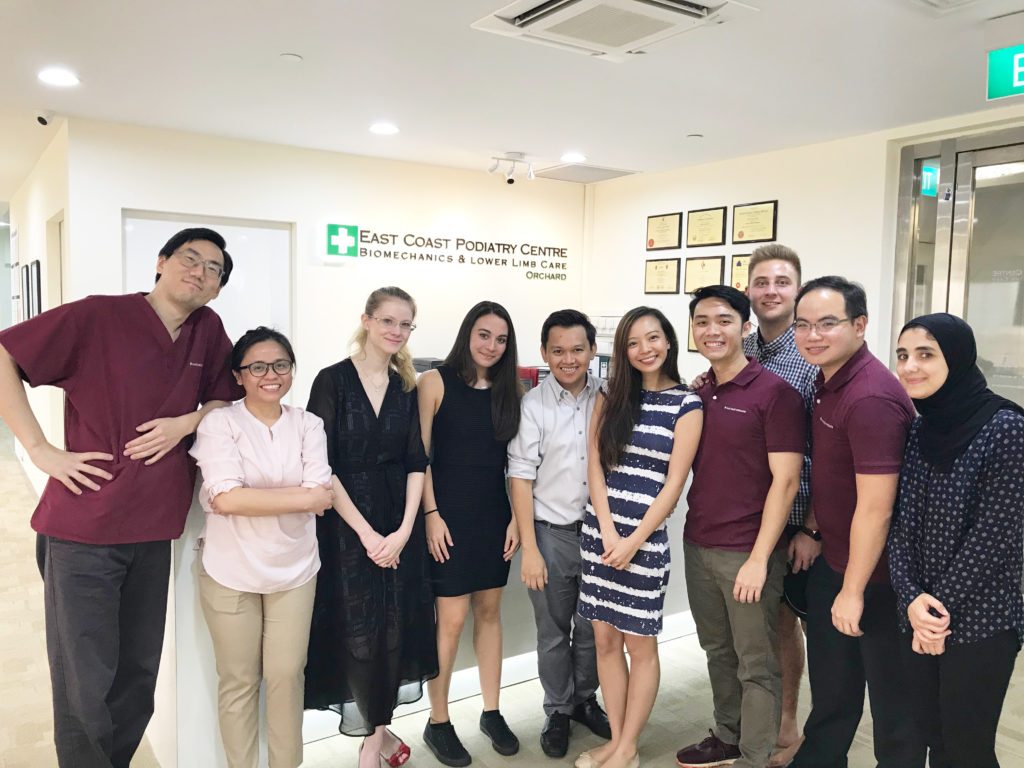 Podiatrist Team with Interns | East Coast Podiatry