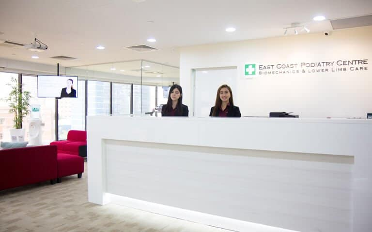 East Coast Podiatry Orchard Branch Counter