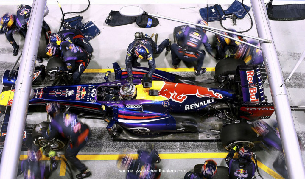 F1 Pit Stop Red Bull