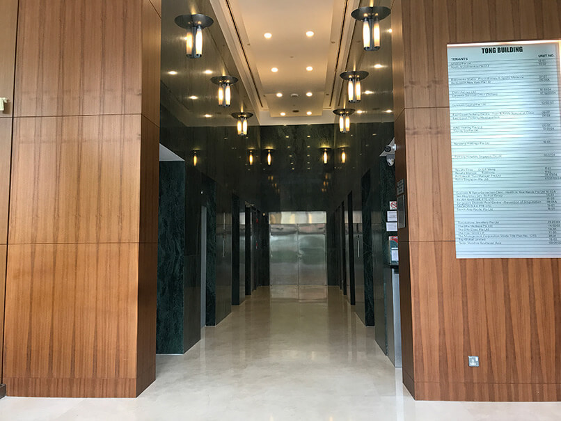 East Coast Podiatry Orchard Tong Building Lift Lobby