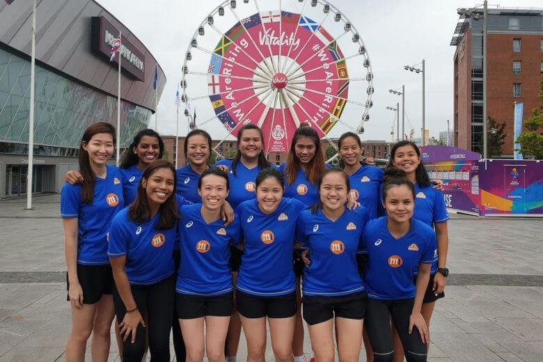 Team Singapore at the Netball World Cup July