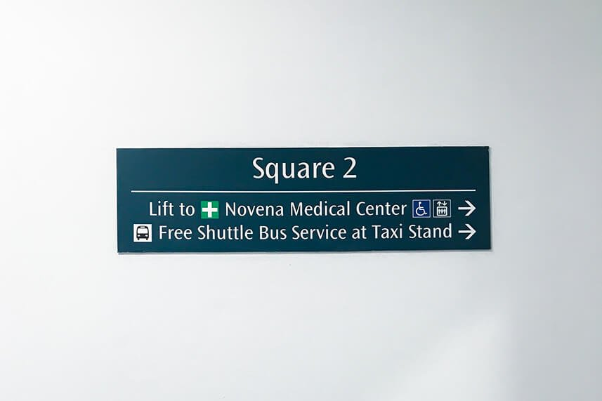 ECP Novena Clinic Direction | Square 2 Signs