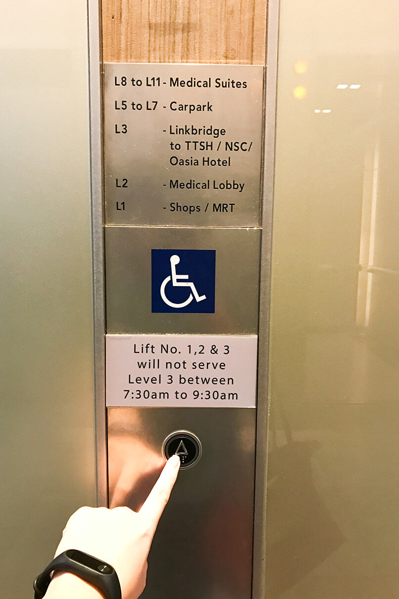 ECP Novena Clinic Direction | Medical Center Lift Lobby