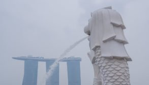 Singapore Merlion Haze 2019