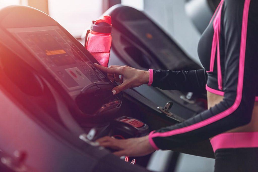 Indoor treadmill running