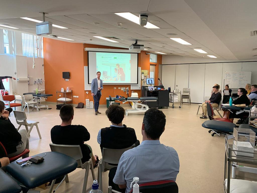 Ryan Podiatrist visting Charles Sturt University