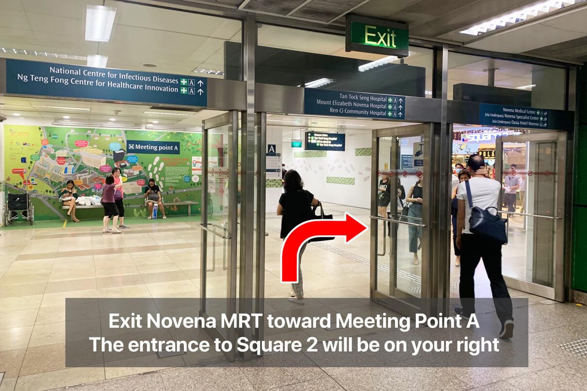 ECP Novena Clinic Direction | Novena MRT Square 2