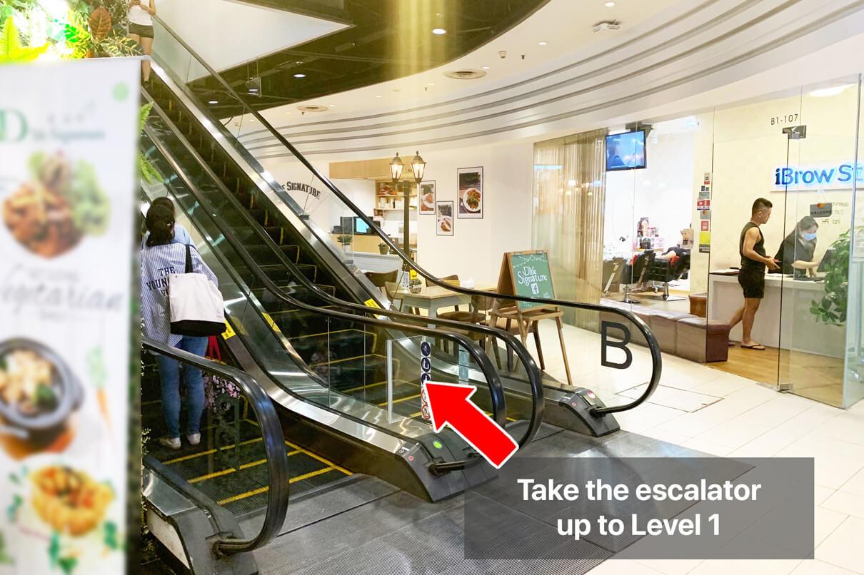 ECP Novena Clinic Direction | Escalator to Level 1
