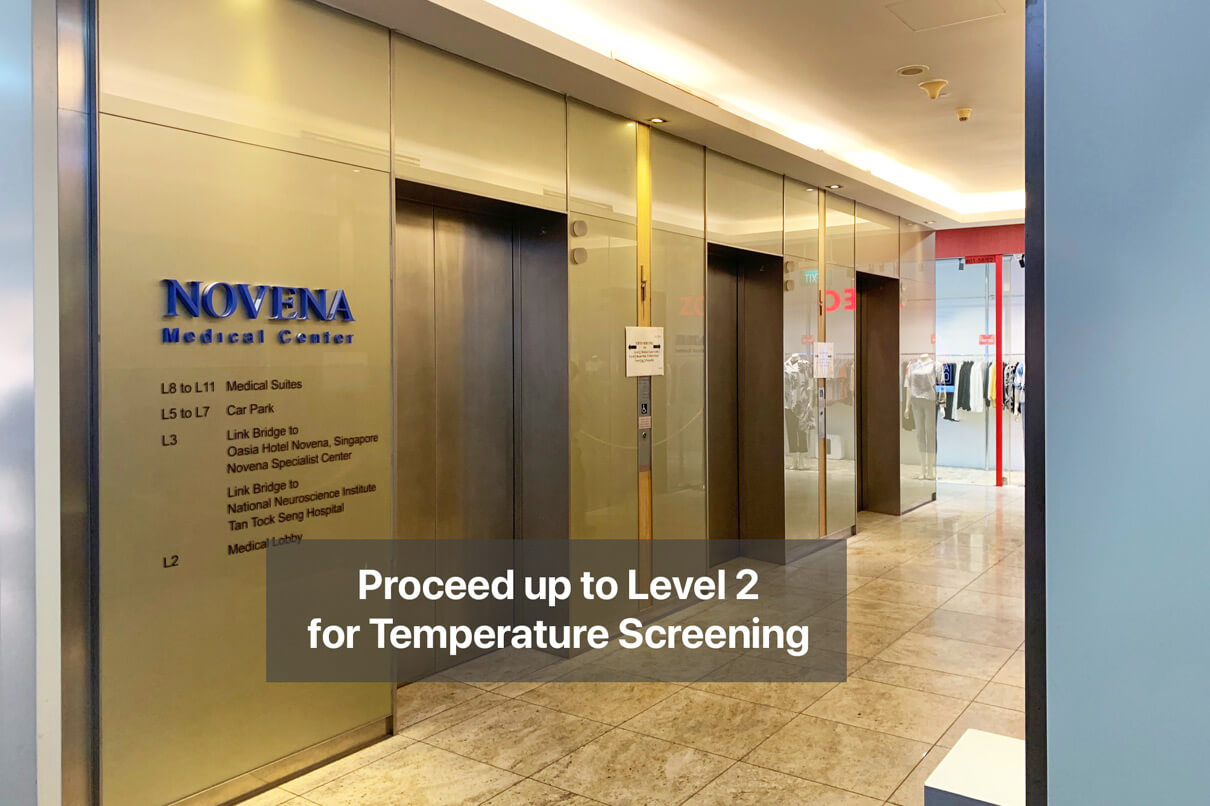 ECP Novena Clinic Direction | Temperature Screening at Level 2
