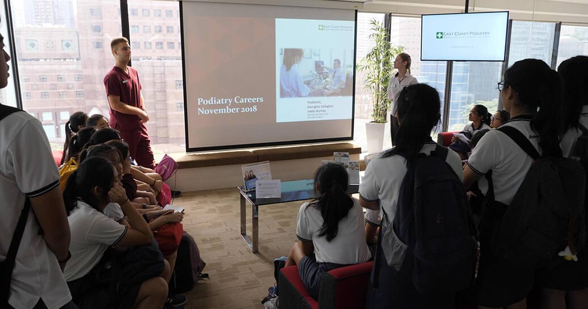 Anderson Junior College students visit East Coast Podiatry
